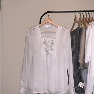 Lace Up Blouse